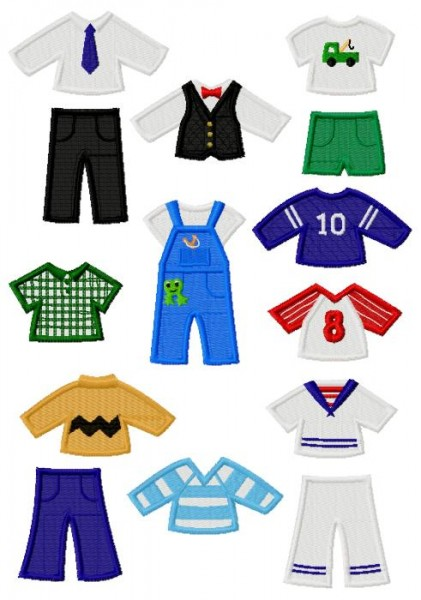 boy paper doll collection